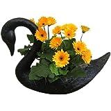 Garden Plast Swan Planter, Black