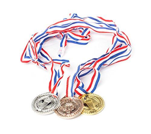 Torch award Medals (2 Dozen) - Bulk - Gold, silver, and bronze Olympic Style Award medals (Medals Gold Silver Bronze compare prices)