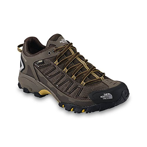 The North Face Ultra 109 GTX Running Shoe Men's Shroom Brown/Algae Yellow 10.5