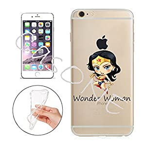 Batman, Wonder Woman, Catwoman, Harley Quinn, Spider Man, Deadpool Jelly Clear Case for Apple iPhone 5 / Iphone 5s / iPhone SE at Gotham City Store