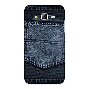 Premium Navy Jeans Pocket Back Case Cover for Samsung Galaxy J5