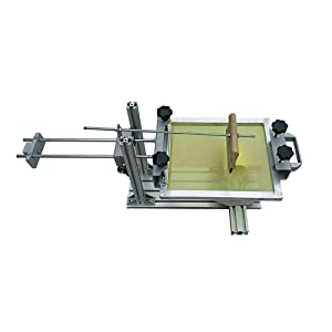 Manual Cylinder Screen Printing Machine, Cylinder Silk Screen Printing Press Machine with 10'' Squeegee for Printing Pen Cup Mug Bottle Candle