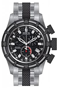 Invicta Bolt Chronograph Black Dial Stainless Steel Mens Watch 80544