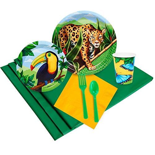 Jungle Party Supplies - Party Pack for 8