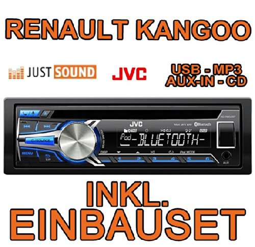 Renault kangoo 1 jVC-kD-r852BT cD/mP3/uSB avec kit de montage