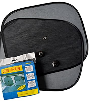 Premium Mesh Side Sunshade for Cars, Trucks & SUVs - Set of 2 Window Shades - Protect Yourself From the Sun When You're Driving - Suction Cups Included - Satisfaction Guarantee
