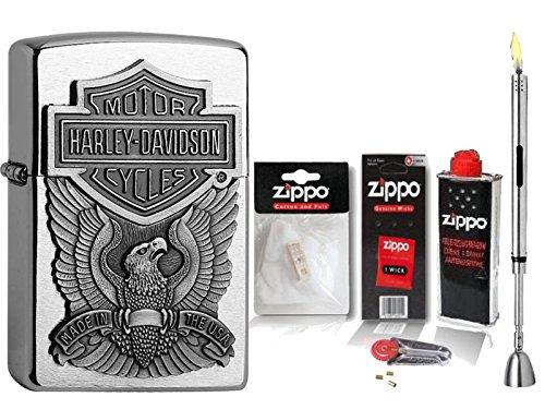 briquet-zippo-harley-davidson-eagle-accessoires-xl-tige-briquet-chrome-brosse