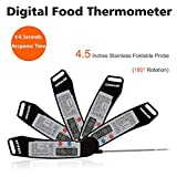 Instant Read Thermometer, GDEALER Super Fast Digital Electronic Food Thermometer Cooking Thermometer Barbecue Meat Thermometer with Collapsible Internal Probe for Grill Cooking Meat Kitchen Candy