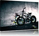 Bicycle in front of graffiti wall , BMX , Street art, fabric , art print , canvas, designs , posters, Leinwand Format:60x40 cm