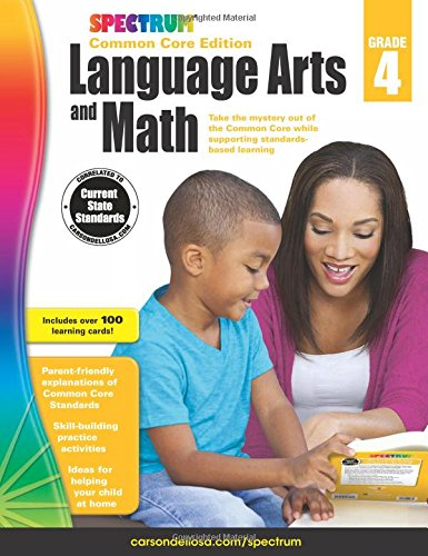 Spectrum Language Arts and Math, Grade 4: Common Core Editio