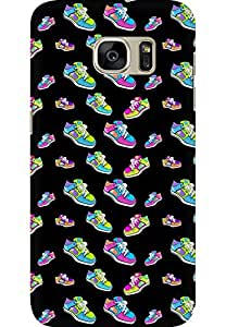 AMEZ designer printed 3d premium high quality back case cover for Samsung Galaxy S7 (sneaker doodle)