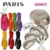 【レディース】パリス PARIS ゴルフ PJ-313 ゴルフクラブセット 7本組(W1,W4,#7,#9,PW,SW,PT) キャディバッグ付き レッド