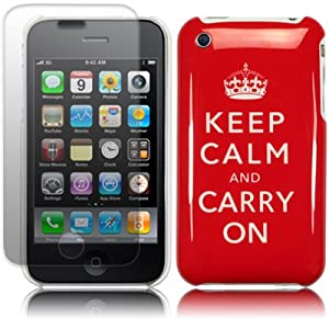 """Keep Calm & Carry On"" Cover for iPhone 3G 3GS"