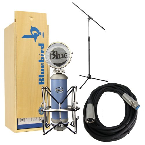 Blue Microphones Bluebird With Mic Stand, Xlr Mic Cable, Shockmount And Pop Filter Bundle