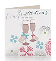 Mr & Mrs Champagne Glasses Wedding Card