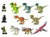 恐竜8体 ミニフィグ3体 ブロック ジュラシック セット