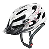 Uvex Uh573 Onyx Helmet - White And Red, 52-57 Cm