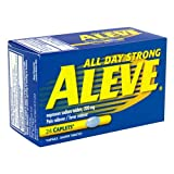 Aleve All Day Strong Pain Reliever, Fever Reducer, Caplet, 24-pack