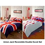 London & Union Jack Reversible Double...