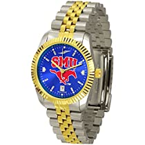 "Southern Methodist Mustangs NCAA AnoChrome ""Executive"" Mens Watch"