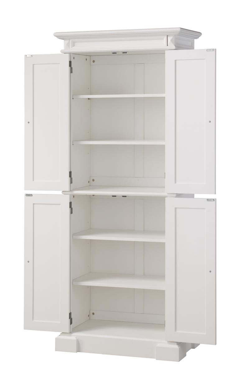 Home Styles 5004 692 Americana Pantry Storage Cabinet White Finish