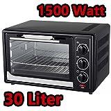 1500W Mini-Backofen mit Timer 30 Liter Miniofen Ofen Pizzaofen Minibackofen