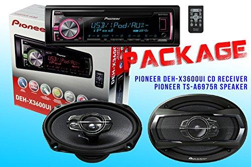 Package ! Pioneer Deh-X3600Ui Cd-Receiver + Pioneer Ts-A6975R Car Speakers