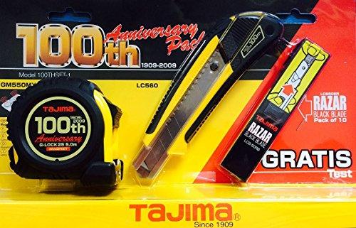 tajima-edition-speciale-100-ans-set-avec-metre-a-ruban-cutter-lames-de-rechange-gratuite-lcb50rb-lc5