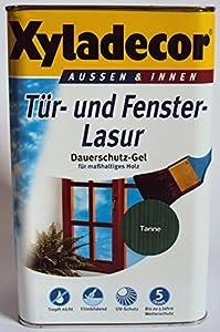 xyladecor dauerschutzlasur dauerschutzgel tropft nicht tanne tannengr n 5 liter. Black Bedroom Furniture Sets. Home Design Ideas