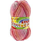 Mary Maxim Sweet Feet Yarn, Cherry