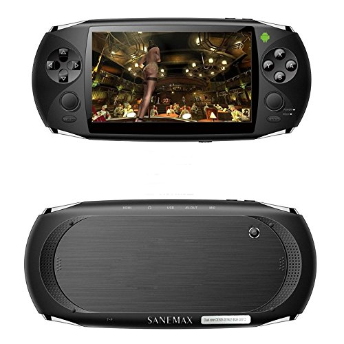 Iwish(Tm) Fashion Double Joysticks Android 4.4.2 Game Player Rk3168 Dual Core 1Gb Ddr3 8Gb Flash Hd Game Console Ce505--Black2