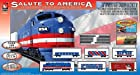 Life-Like Trains HO Scale Salute To America Electric Train Set