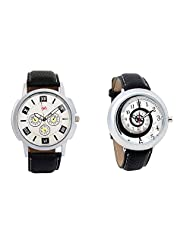 Gledati Men's White Dial And Foster's Women's White Dial Analog Watch Combo_ADCOMB0001748