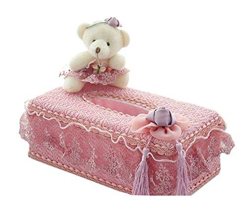 Mignon Porte-papier hygiénique / Wedding Boîte à mouchoirs, Ours (rose)