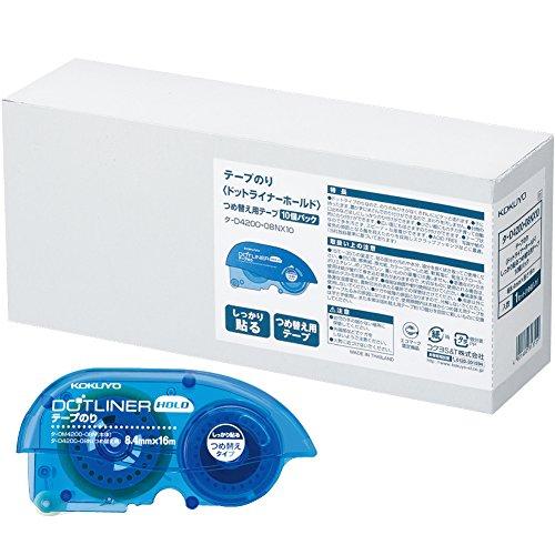 コクヨ テープのり ドットライナーホールド つめ替え用 10個 タ-D4200-08NX10