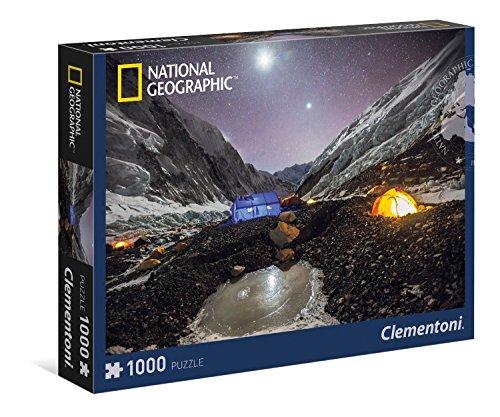 Clementoni - Puzzle de 1000 piezas, National Geographic, diseño Everest (393107)