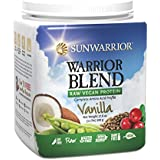 Sunwarrior Warrior Blend Raw Vegan Protein Powder, Vanilla 1.1 lbs (FFP)