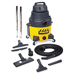 Shop-Vac Industrial Wet/Dry Vacuum, 12gal, 2.5hp, Yellow/Black - Includes wet/dry vac, hose, wand, 14\