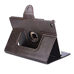Bracevor Smart Premium Apple iPad Air 2 (iPad 6 Gen) Leather Case: 360 Degrees Rotating Stand Cover - Executive Brown