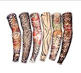 SMO 6pc タトゥー スリーブ ボディアート アームストッキング 入れ墨 刺青  フェイクスリップ 6種類 1セット  897 (typeA)