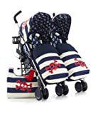 Cosatto Supa Dupa Twin Stroller Special Edition (Ahoy There)