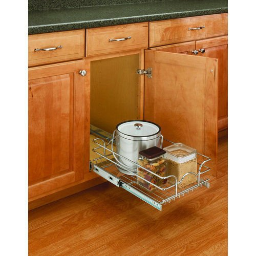 A Shelf 58 15c 5 Chrome Pull Out Basket: Rev-a-Shelf Pull-Out Single Wire Basket