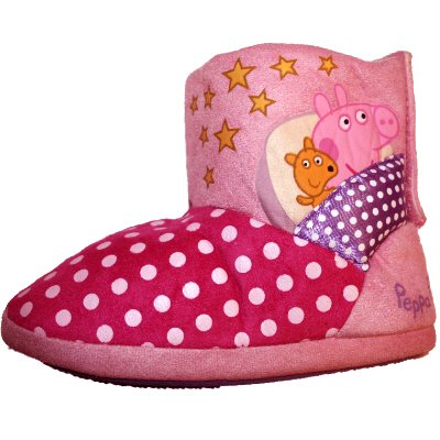 Girls Slippers Peppa Pig Sizes 5 6 7 8 9 /& 10