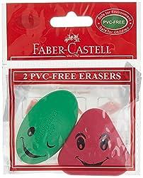Faber-Castell Combi Assorted Eraser - Pack of 2