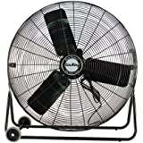 Air King 9224 24-Inch Industrial Grade High Velocity Pivoting Floor Fan, Black Finish