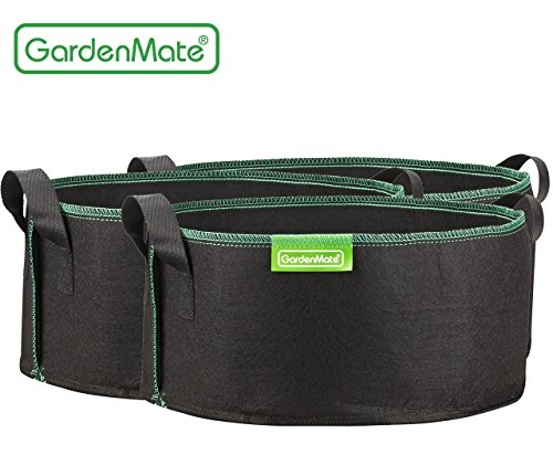 GardenMate 3-Pack 4 Gallons Planting Grow Bags Made Of Growth Friendly Felt