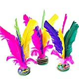 HDYD Colorful Feather Chinese Jianzi Kicking Shuttlecock Foot Exercise Outdoor Game 4pcs