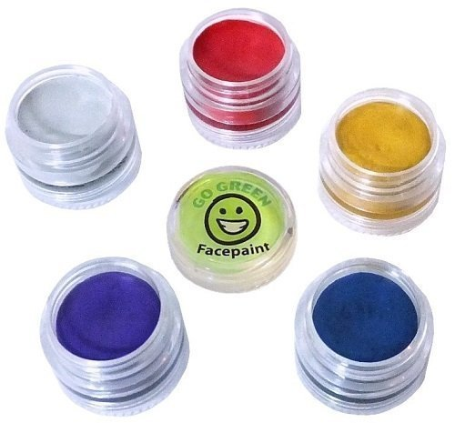 Face Paint -Organic, Hypoallergenic, all Natural Face Paint for Kids, No Lead Paint in Interlocking, Stackable Jars, Even for the Most Sensitive Skin, Best for Parties, Makes Your Favorite Designs Even Better, Certified Organic, Made in USA.