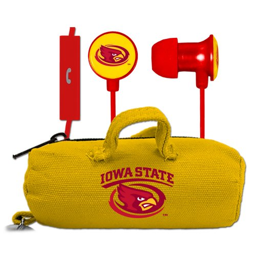 NCAA Iowa State Cyclones Scorch Earbuds and Mic Clamshell with BudBag (Cyclone Inline Fan compare prices)