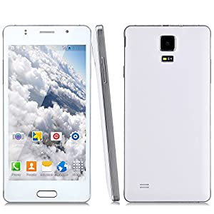Jiake 760 Unlocked 5.0 Inch Android 4.4.2 3G Smartphone Phablet 1.2G Dual Core MTK6572 Dual SIM Dual Standby GPS Cellphone WIFI WAP Bluetooth Google APPs (White)